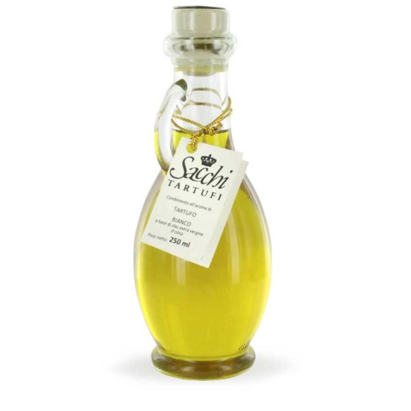 Extra Virgin Olive Oil with White Truffle Aroma in bottle design of Etruscan Amphora